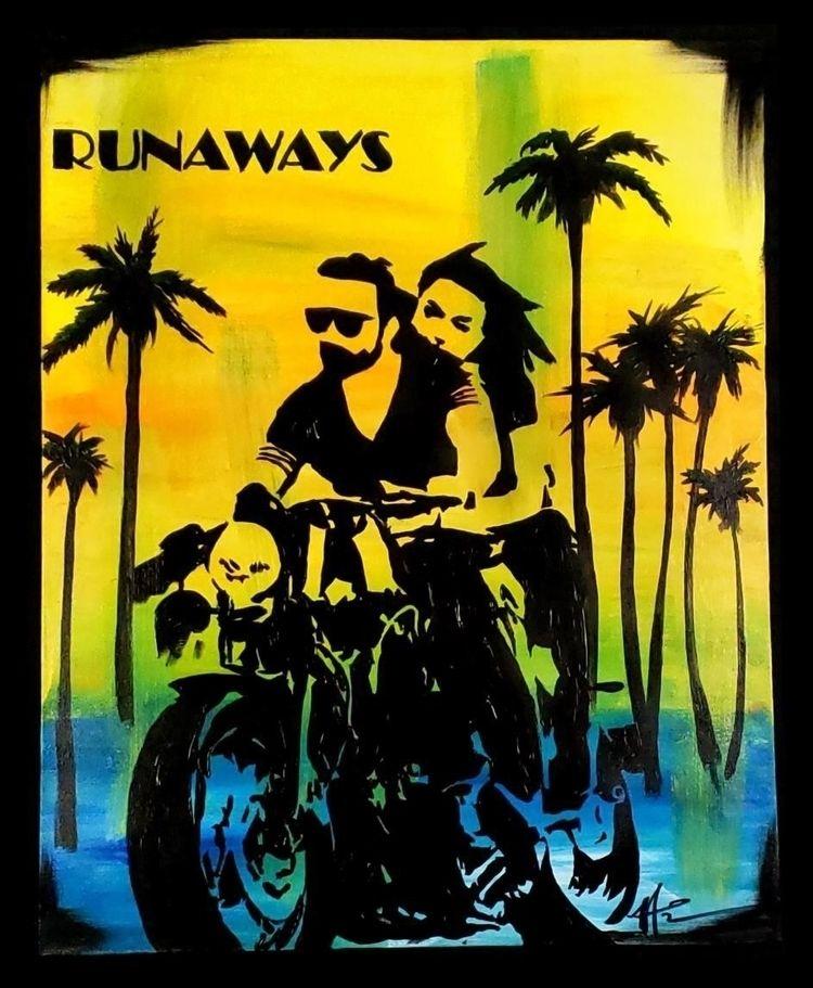 Runaways Michelle Tomes Acrylic - bitfactory | ello