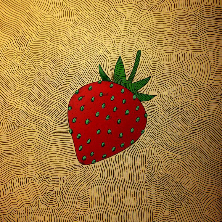 Strawberry, 2019 | Web - art, illustration - brokoola | ello