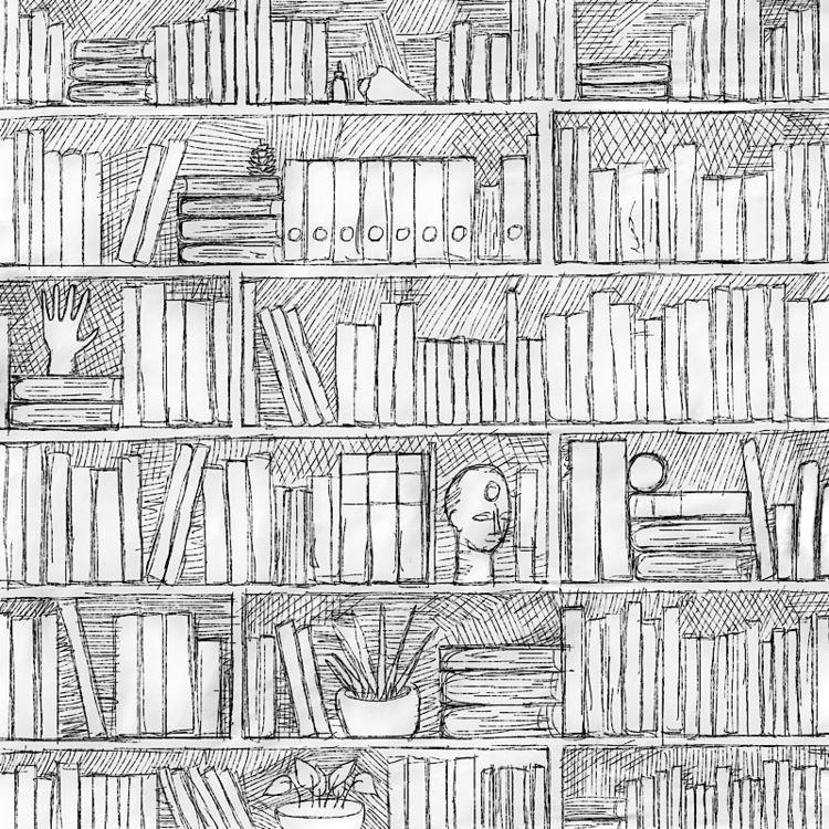 shelf - bookshelf, drawing, illustration - catswilleatyou   ello
