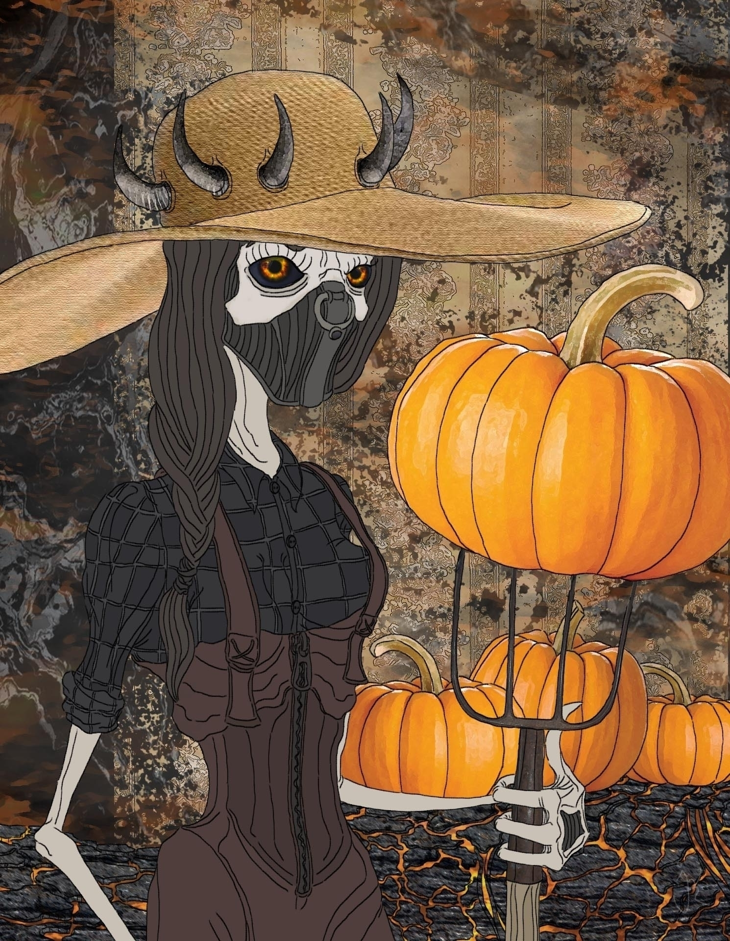 Pumpkin Patch Jenny - Portrait  - ristoky | ello