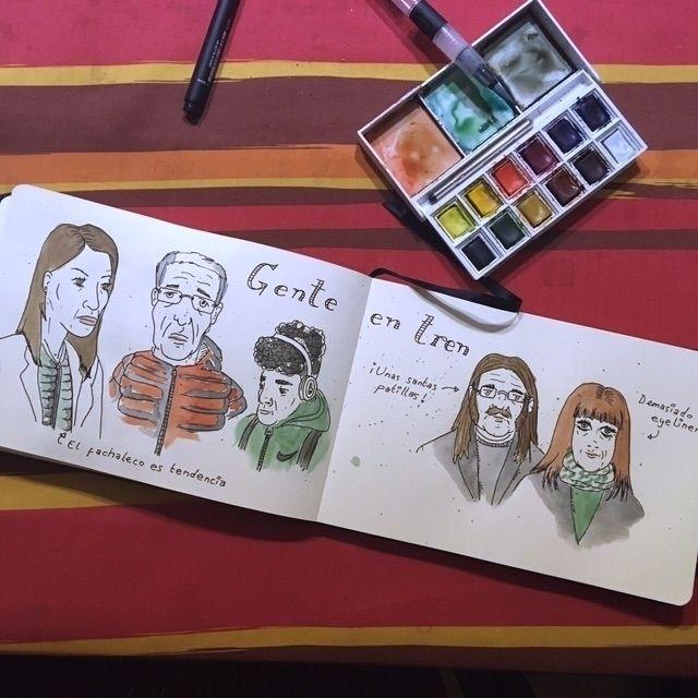 Gente en tren - Madrid, color, art - antoniofse | ello