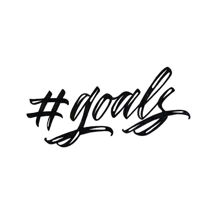 goals, lettering, handlettering - chuckchai | ello