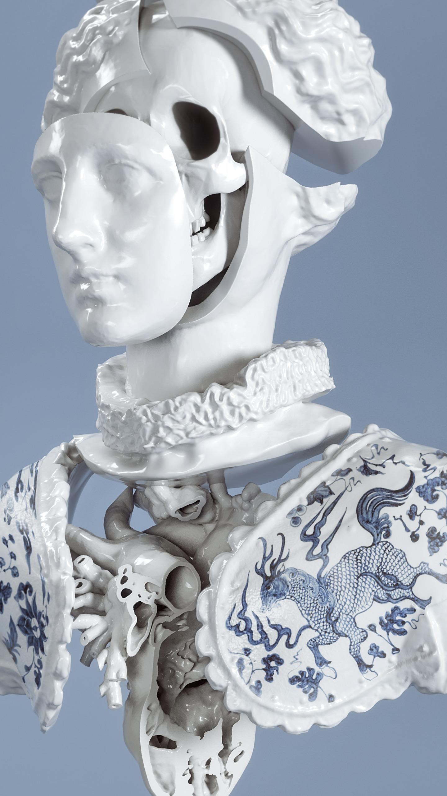 Luxury Problems 3D-bust illustr - hanneshummel | ello