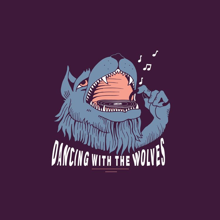 Dancing wolves - illustration, design - jessienewhouse | ello