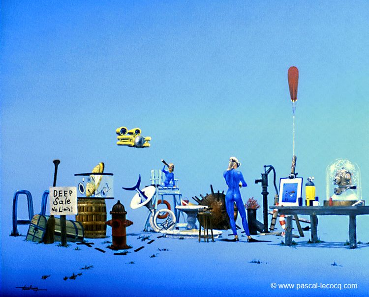 CAR BOOT - oil canvas Pascal Le - bluepainter | ello