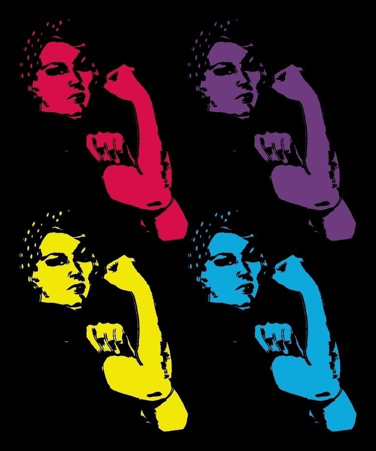 Popart, WomensMarchArt, WomensRights - electrovista | ello