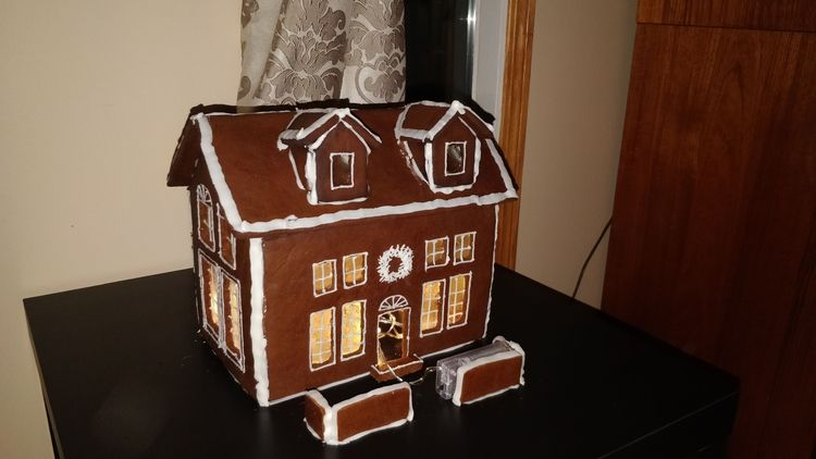 dispose gingerbread house fire - yyc | ello
