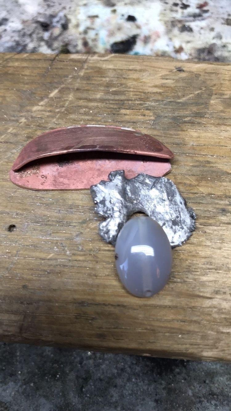 Brooch. Bronze, silver agate. E - mariaelen | ello