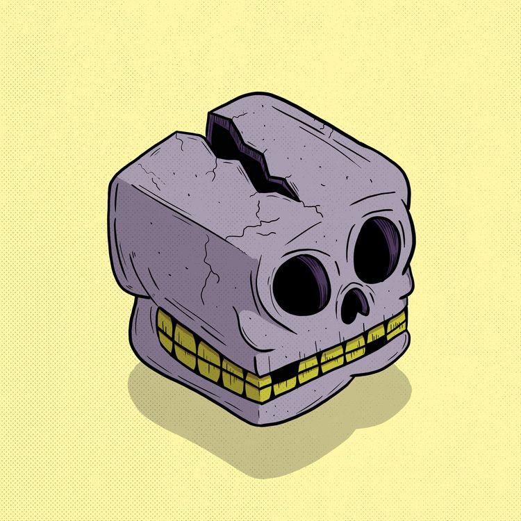 Facebox - Skullwall - 5, illustration - thomasgaraventa   ello