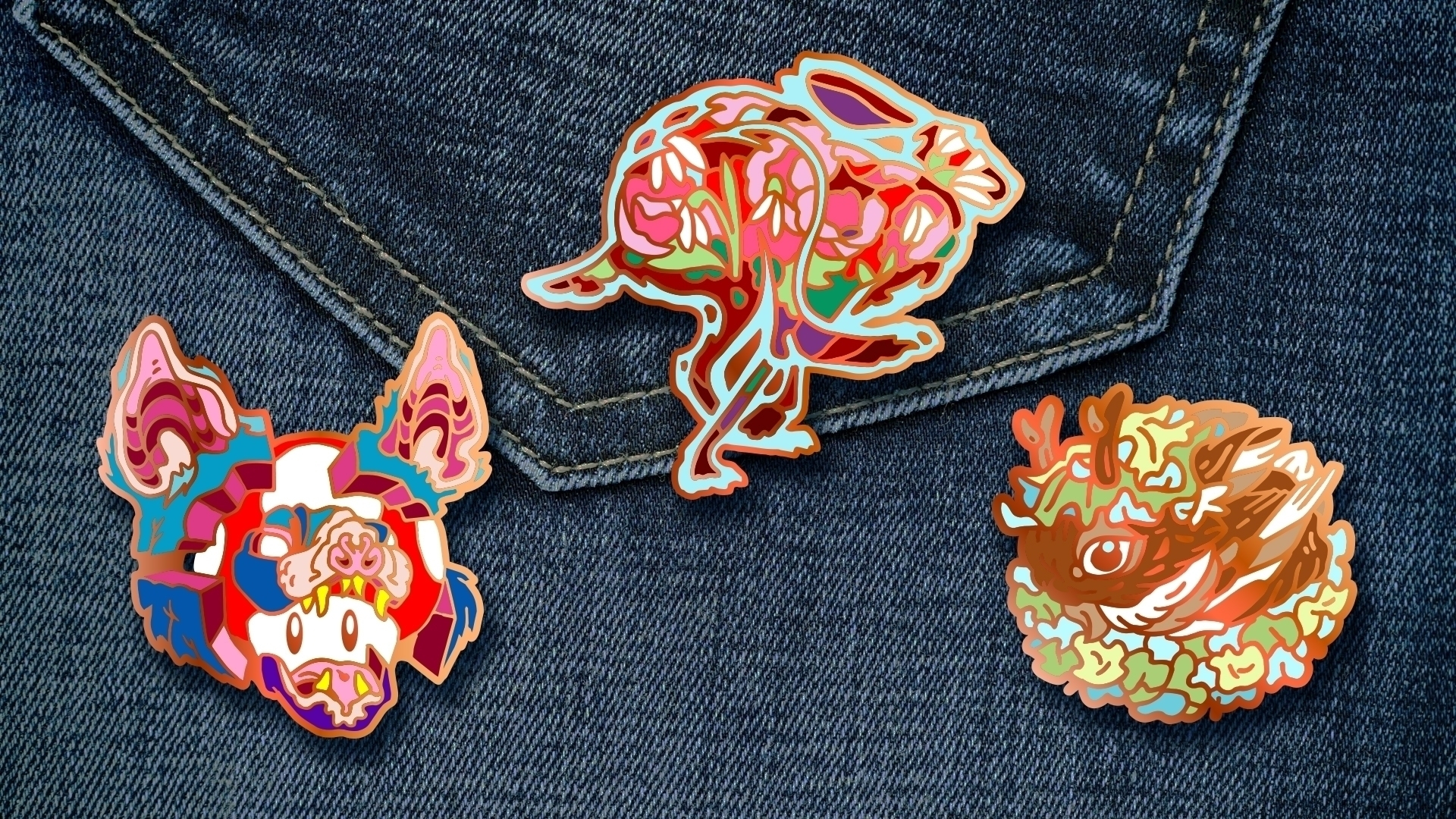 produce handful enamel pins! :r - nicksullivan | ello