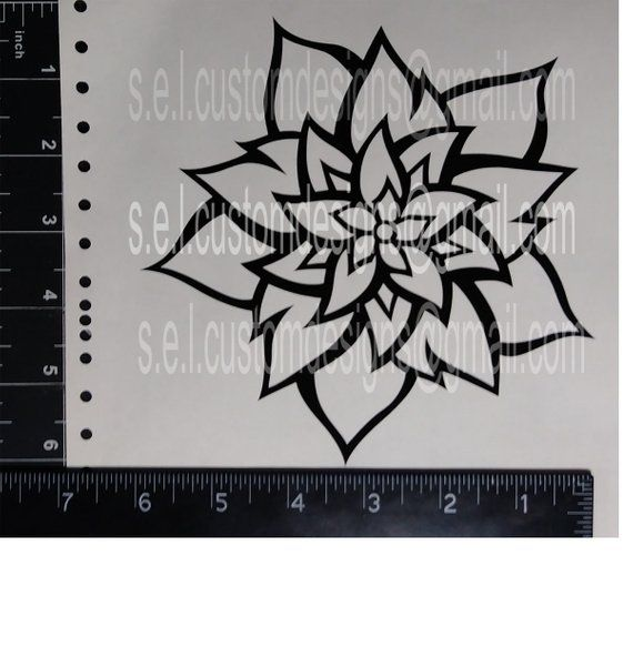 STAR-FLOWER VINYL DECALS 4 Desi - selcustoms | ello