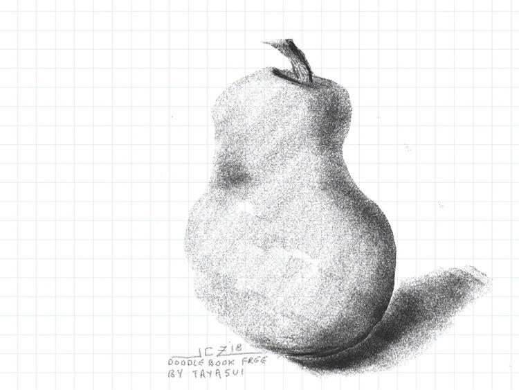 'Digital Doodle Pear' (2018) 'M - leapingbluehare | ello