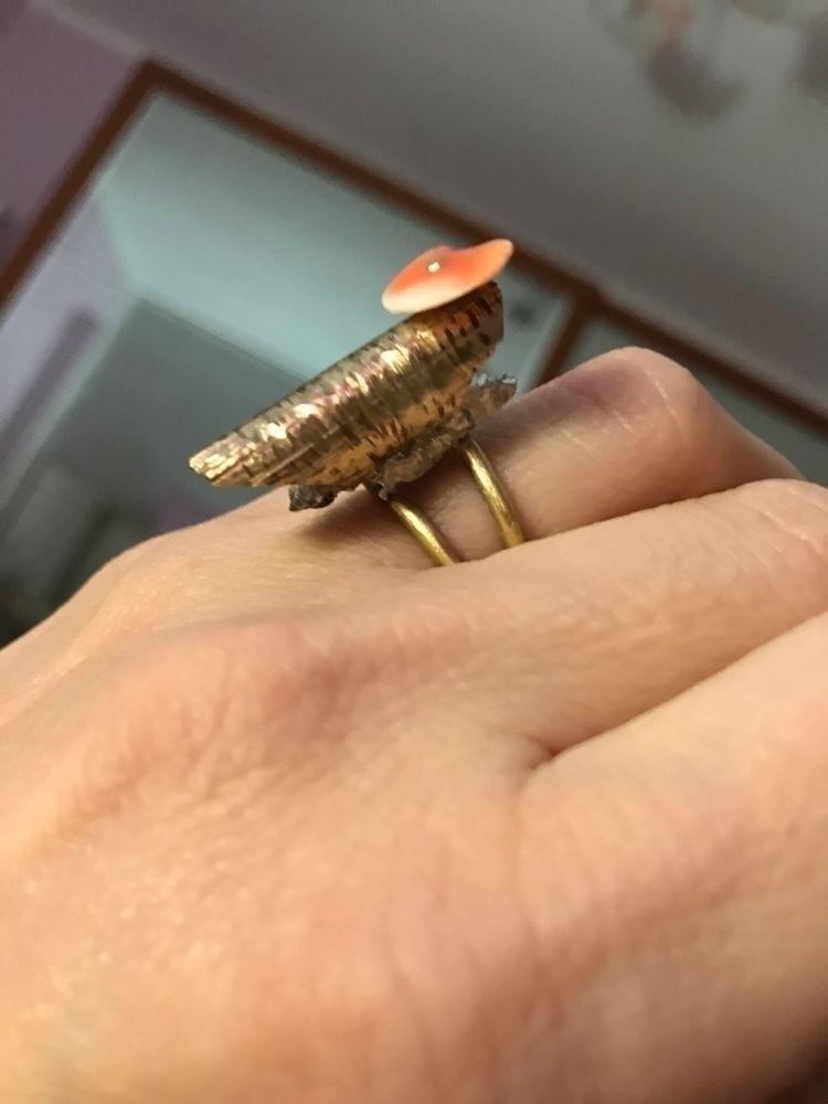 Ring. Silver, brass pink shell - mariaelen | ello