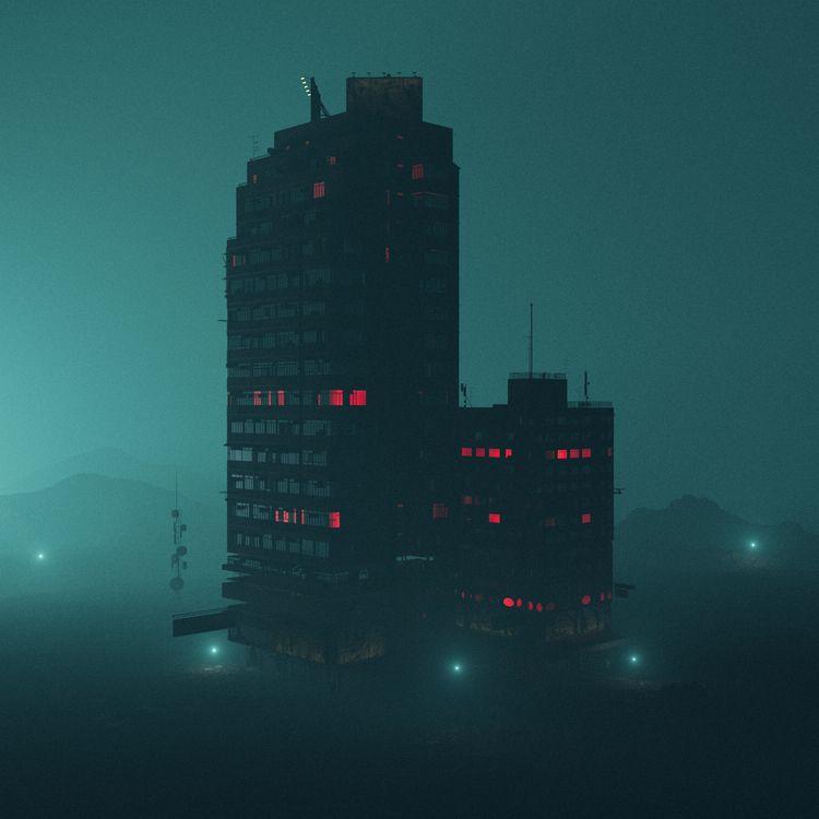 RED CENTRE - 3d, c4d, cinema4d, scifi - hxg | ello