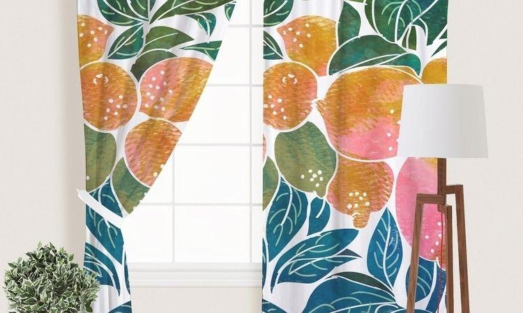 'Lemons' Window Curtains - society6 - 83oranges | ello