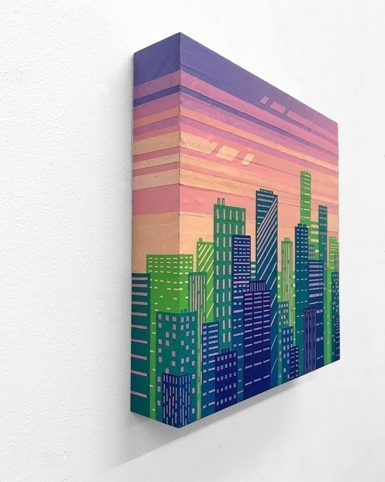 Cityscape. Collage painted mask - xavi | ello