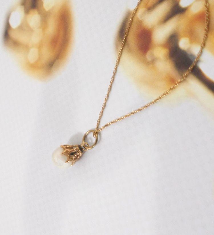 Cultured Pearl Pendant 14k Lace - theresa-marchione | ello