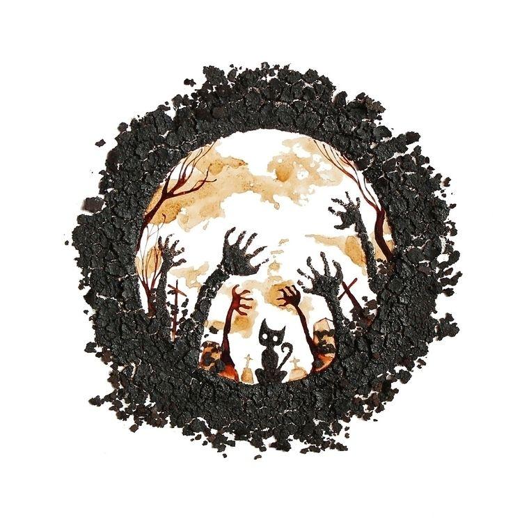 Black Cat, work 2013 coffee gri - coffeetopia | ello
