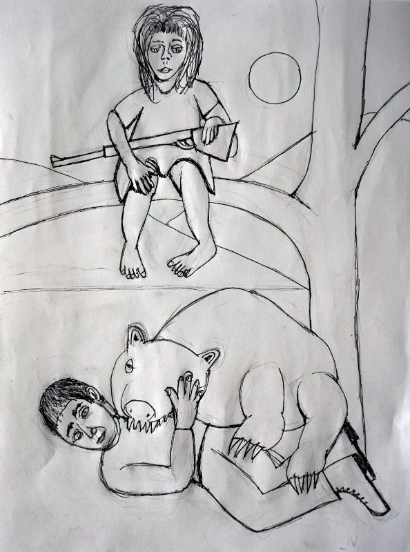 Hungry Bear Pencil, pen paper,  - artchrisdale | ello