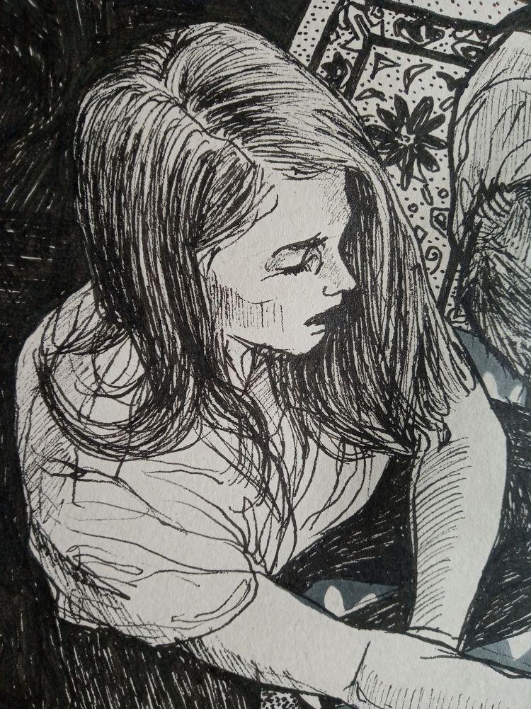details drawing - portrait, girl - aleksandrawiechowska | ello