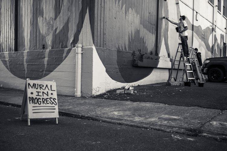 Mural Progress - streetphotography - noservice | ello