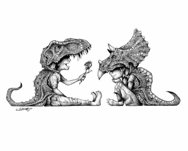 Happy Day! Tyrannosaurus Wreck  - tlamph | ello