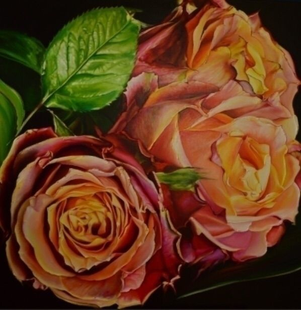 Oil painting Red roses. 100*100 - vanthuisuit | ello