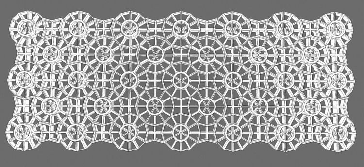 lattice wall pattern - riflecreekstudio   ello