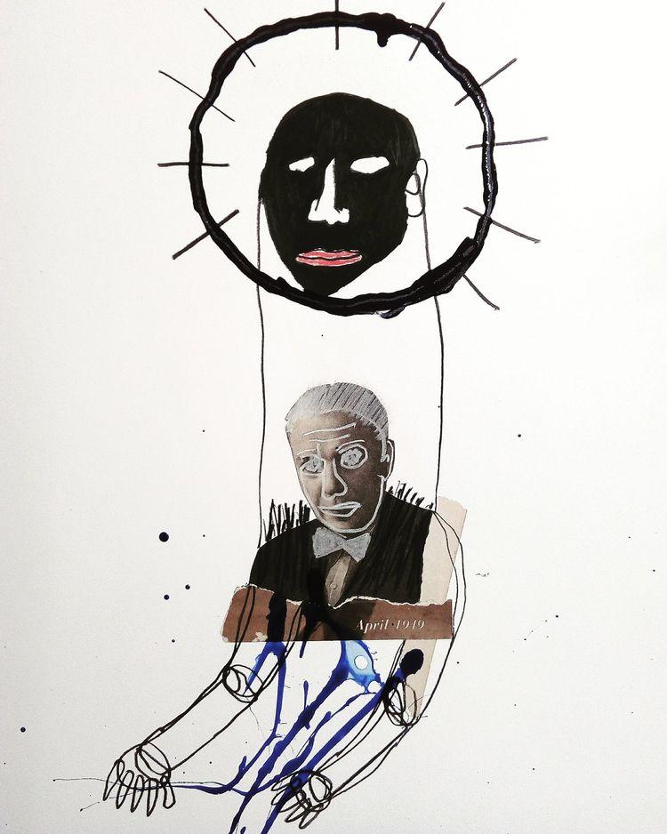 art, collage, mixmedia, drawing - sanchezisdead   ello