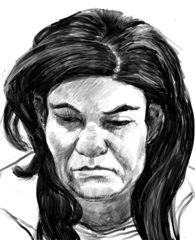 Woman coffeeshop drawing blog - linedrawing - nevinberger   ello