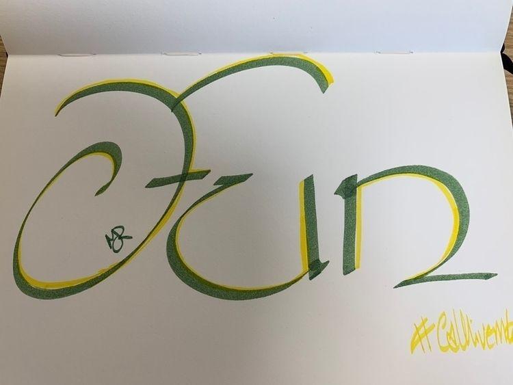 practice - calligraphy - melanie-jane | ello