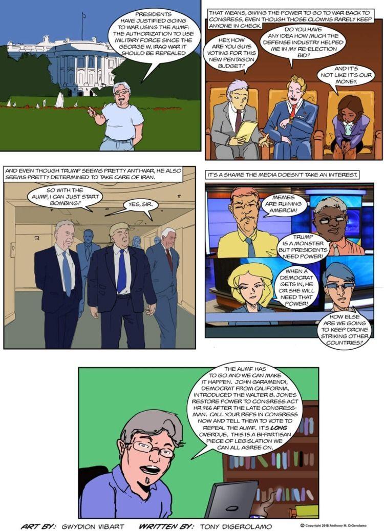 Antiwar Comic: Repeal AUMF! Red - tonydigerolamo | ello