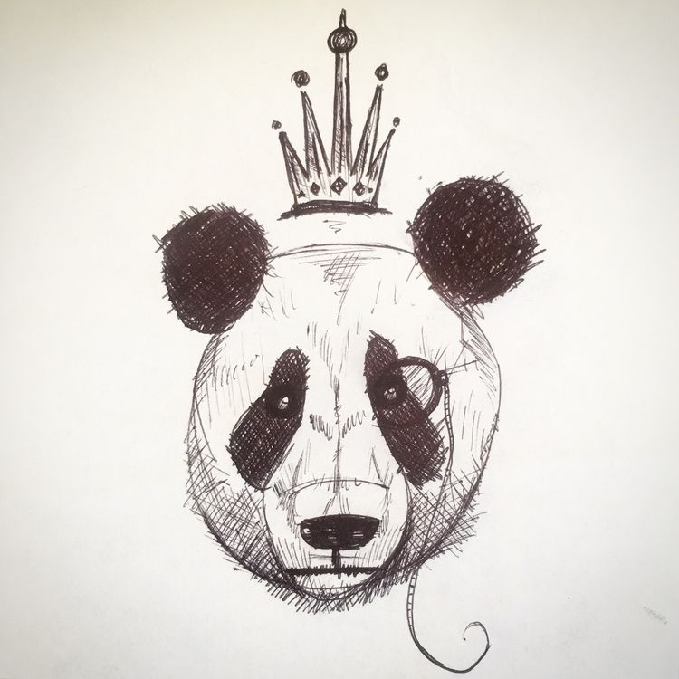 King Panda, Doodle sketch compl - sean-fleming | ello
