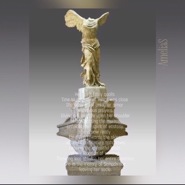 """La Victoire de Samothrace"" Mus - amelia-soukehal | ello"