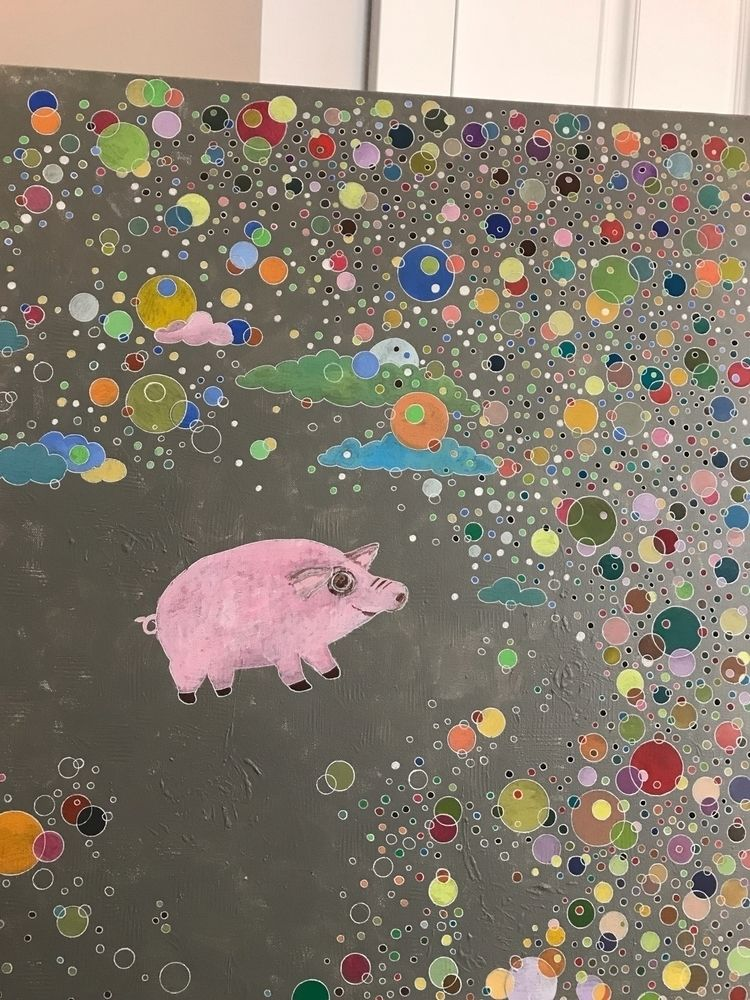 workinprogress, art, pigs, circles - melodylamoureuxart | ello