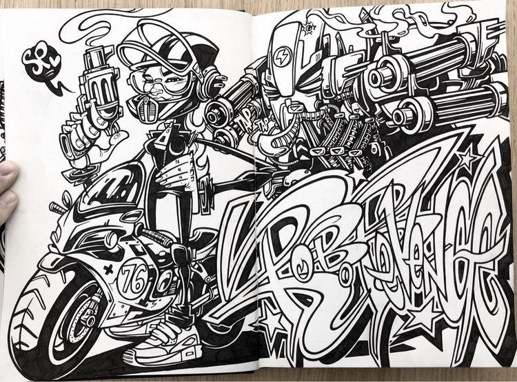 'Robo Revenge' Sketchbook illus - spzero76   ello