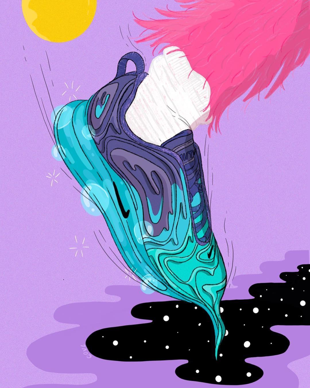 Slipping galaxy Air Max - illustration - itscovl | ello