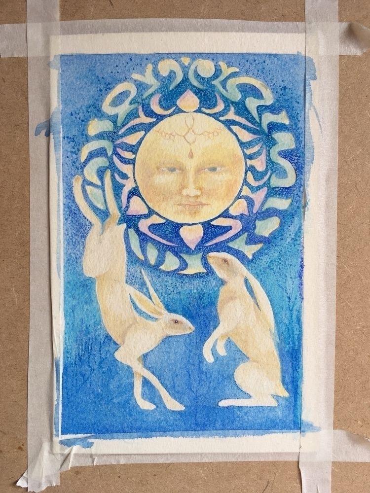 Hares moon. 20cm 14cm dark dank - greyswan   ello