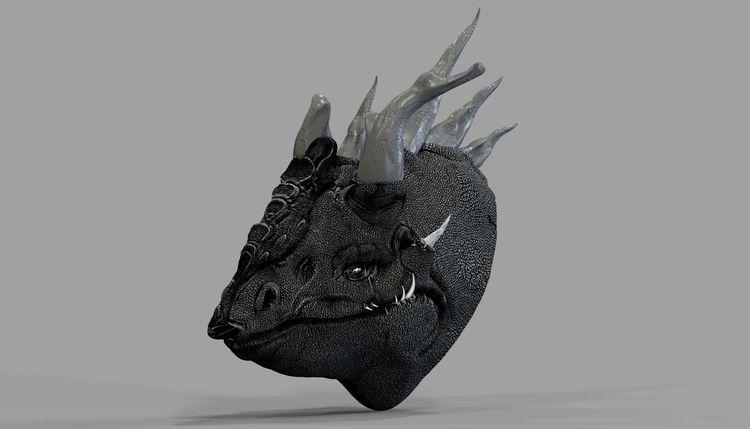 Black Dragon Model created ZBru - the3dbox | ello