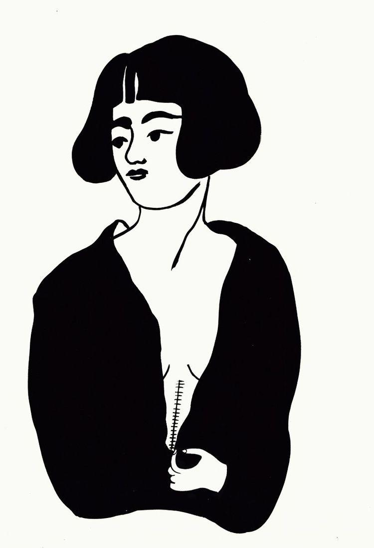 sensuality - illustration, black - spoto | ello