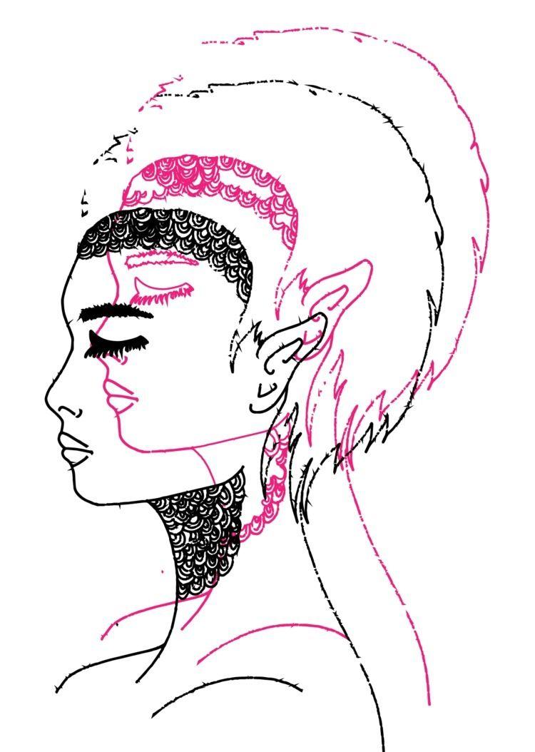 Double trouble - illustration, girl - cilvako | ello