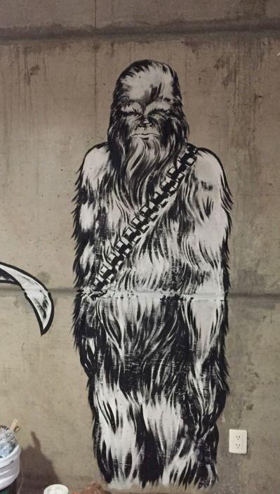 starwars, wallart, chewy, chewbacca - jimmar | ello