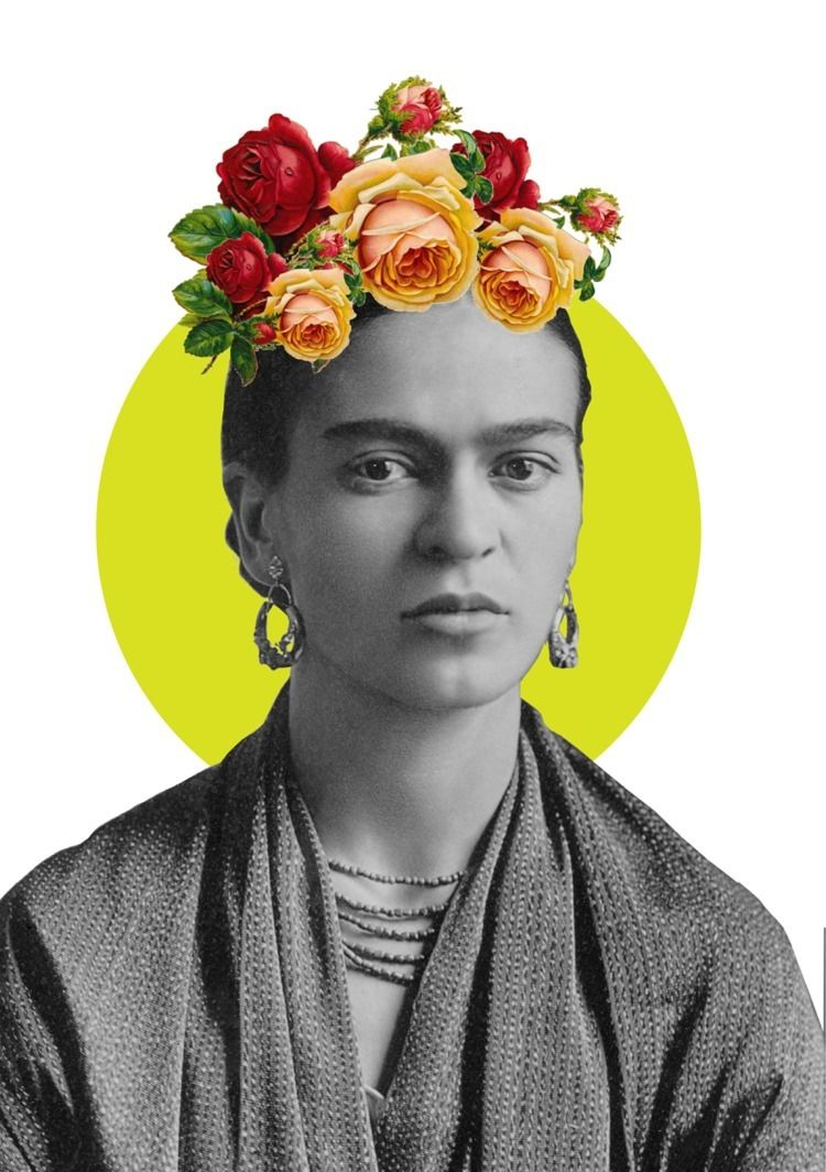 Frida - collage, frida, kahlo, portrait - cilvako | ello