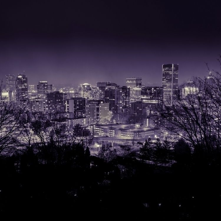 Downtown Portland, frigid night - timtrautmann | ello