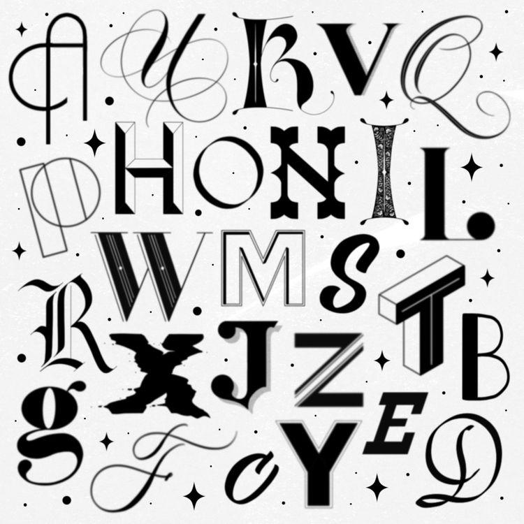 26 LETTERS TYPOGRAPHIC STYLES - type - leahdesign | ello