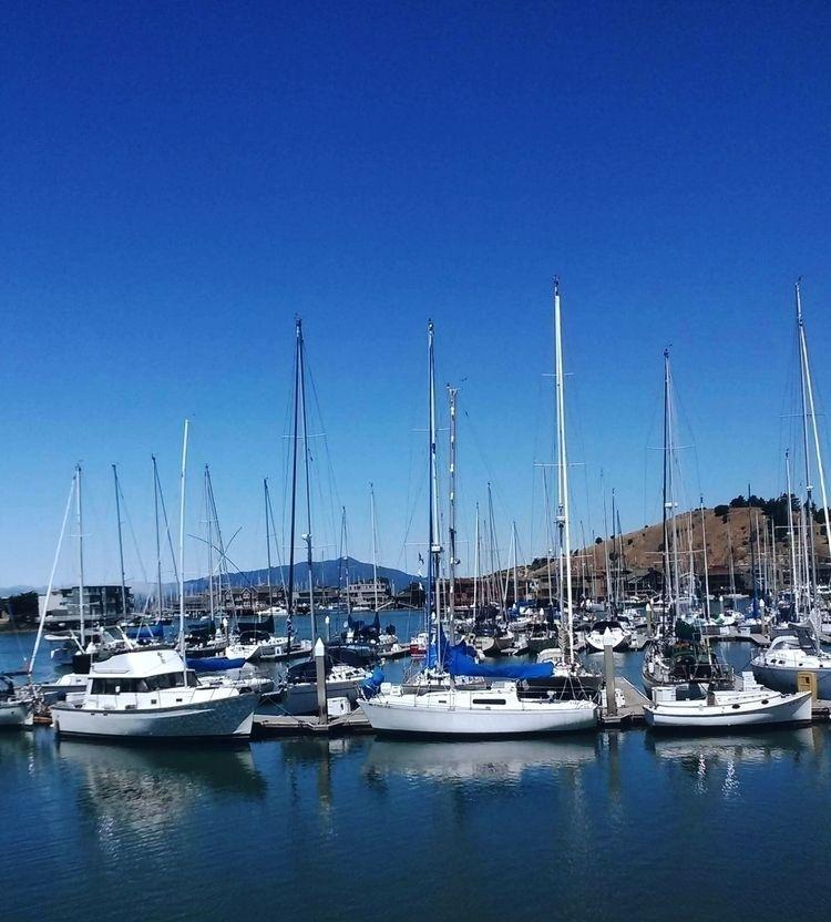 Marina - boats, lake, water, blue - ranjiroo | ello