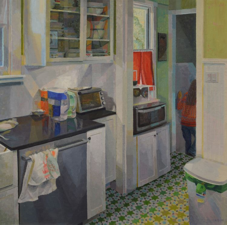 "Josh Kitchen, 24""x24"", oil pane - brandyagun 