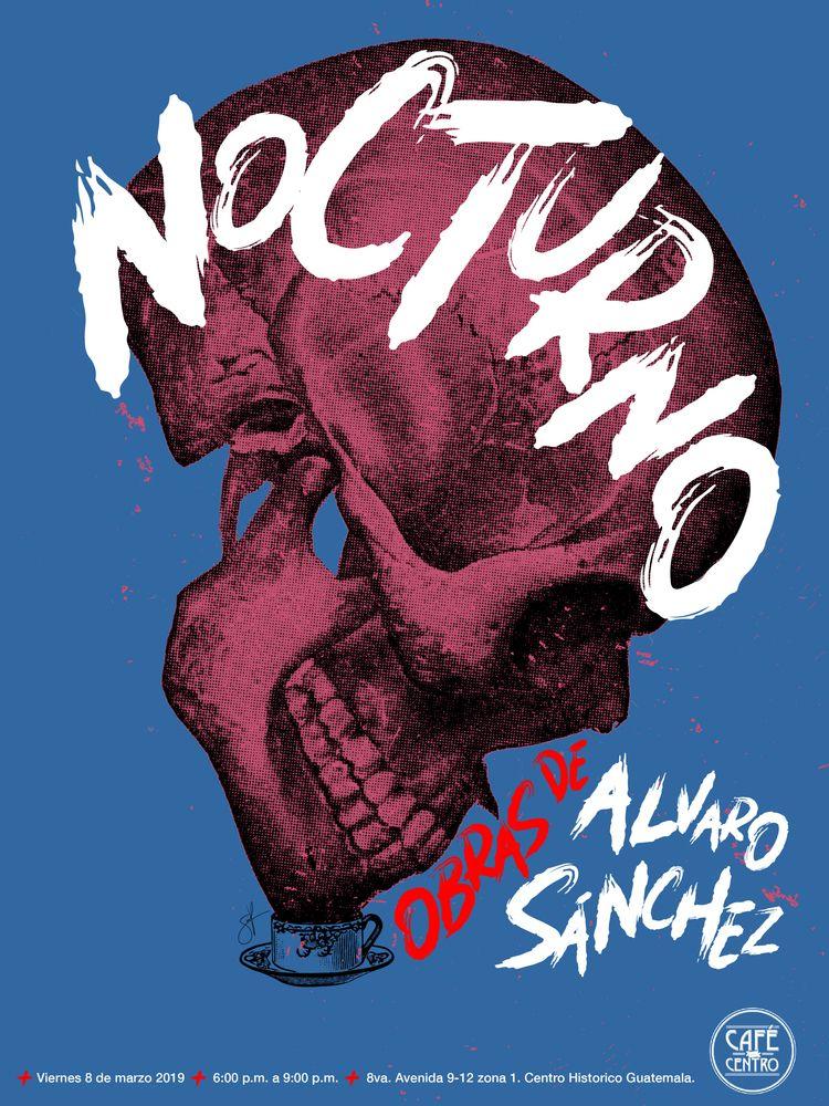 2 posters solo show NOCTURNO de - sanchezisdead | ello