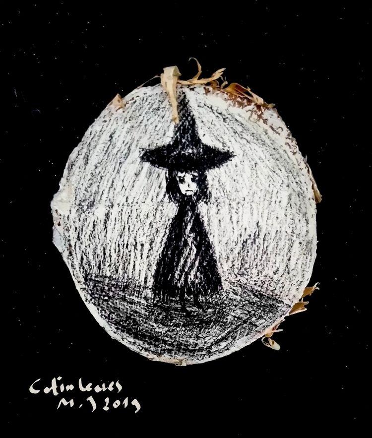 Witches wooden slices - illustration - maksmj | ello