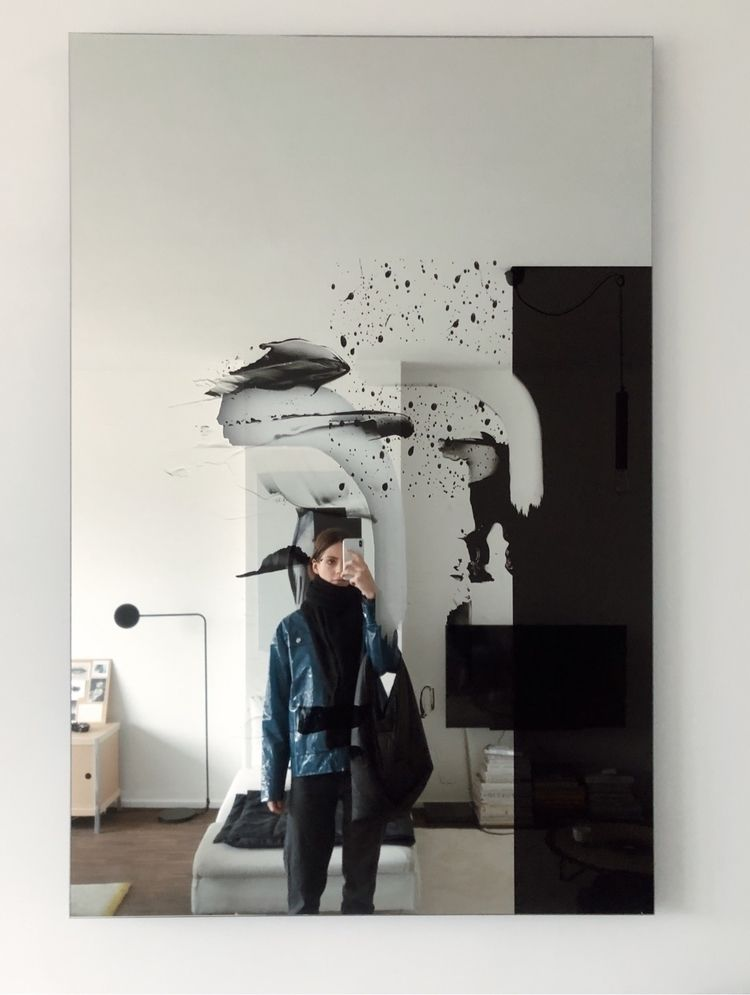 Excited mirrors hanging home - abstractart - louisemertens | ello